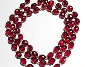 Reserved Art Deco faceted cherry amber bakelite necklace
