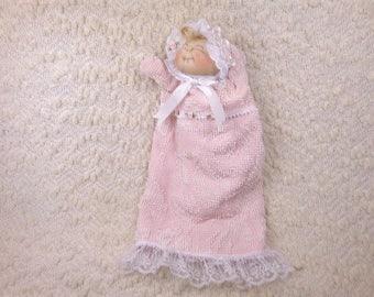 Doll Puppet Soft Sculptured Handmade  Baby Doll Puppet
