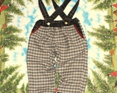 wool and cotton trousers with adjustable suspenders 3-4yrs