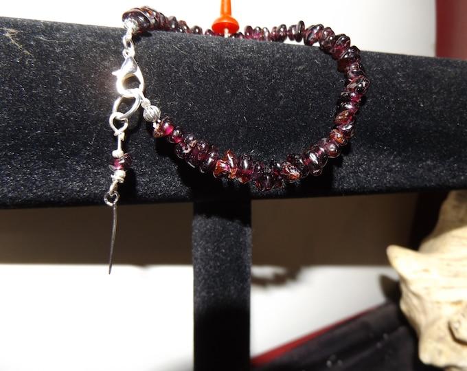 Garnet Bracelet, Crystal Bracelet, Mystical Jewelry, Crystal Jewelry, Spiritual Jewelry,  Boho Jewelry, Beach Jewelry