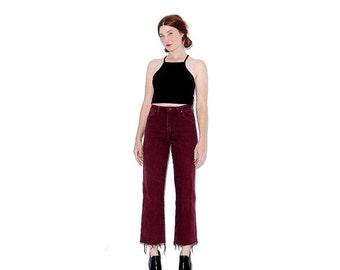 WTF HALF OFF vintage Wrangler Jeans / rare oxblood merlot jeans black denim ripped jeans mom jeans high waisted jeans distressed jeans