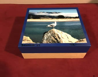 Wooden Jewelry Box - Seagull Photograph - BOLINAS, CA | Home Decor | Housewarming | Gift for Mom