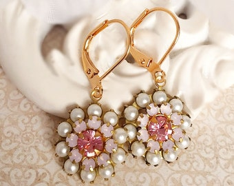 Pearl Earrings - Pink - Spring Jewelry - FIORE Innocence