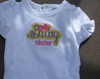 new baby bodysuit, sibling shirts, new baby announce, matching shirts,  baby shower present, little sister t shirt,  big sister t shirt