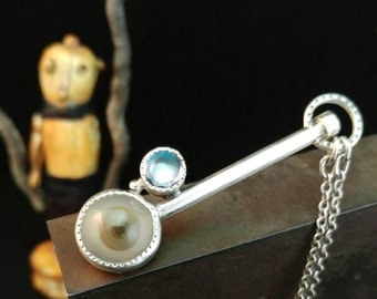 Evil Eye Deflector Monocle necklace