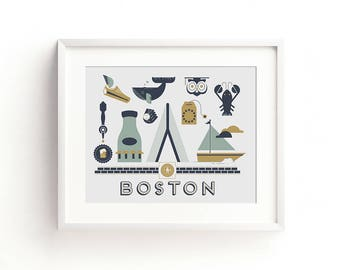 Boston Letterpress Art Print