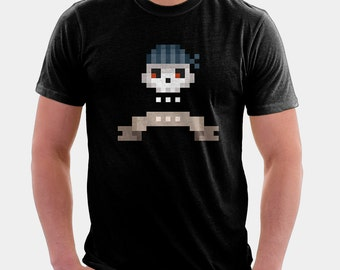Pixel Pirate Skull Shirt  - Pixel Art Shirt | T-shirt for Women Men | Cool T Shirt | Pixel Art Tee | Pirate Shirt | Retro Tee