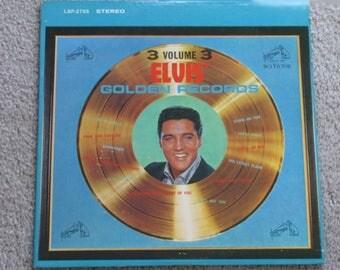 1963 Elvis Presley Volume 3 Great Hits vinyl LP Golden Records 1963 RCA Victor lpm/lsp-2765