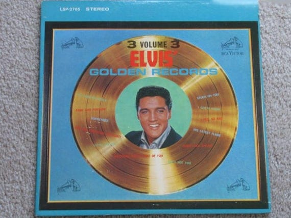 1963 Elvis Presley Volume 3 Great Hits vinyl LP Golden Records 1963 RCA Victor lpm/lsp-2765