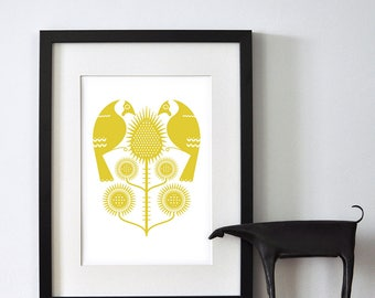 Goldfinches and Thistles - Open Edition Giclee Print