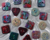 18 unusual funky handmade buttons (set18_10)