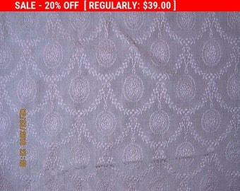 Antique Fabric French Silk Damask