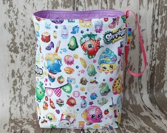 Shopkins Reusable Waterproof Trashbag - Easy to hang, perfect for travel