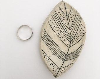 OOAK Ceramic Leaf Dish