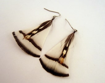 natural white Feather Earrings lady Amherst