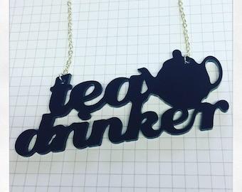 Tea Drinker Necklace