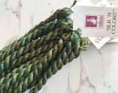 Silk 'n Colors - Camouflage Green. SNC 055. Silk Embroidery Floss.Hand Dyed Floss. Cross Stitch Thread. Needlepoint. By TheThreadGatherer.