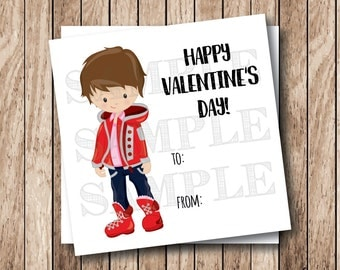 Instant Download Valentine Boy Tags, Printable Valentine Tags, Child Boy Valentine Tags, Classroom Valentine Cards