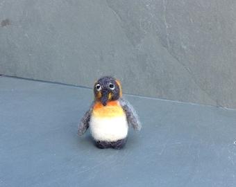 Needle felt penguin, needle felted penguin, needle felted animal, needle felted ornament, pocket pal