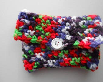 Crochet Coin Purse Gift Card Holder Strawberry Fields Easter