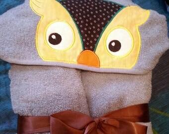 OWL Hooded Towel, Towel with Hood