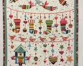 Quilted Advent Calendar, Christmas Advent Calendar, Christmas Countdown Calendar, Perpetual Advent Calendar, Advent Calendar Wall Hanging