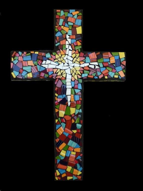 Custom Mosaic China Tile Wall Cross