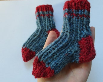 the LITTLEST Wool Socks / baby newborn toddler booties / 0-24 month sizes