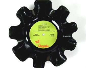 Jethro Tull Vinyl Record Bowl Vintage LP Album 1974 (War Child) Lime Green Chrysalis Label