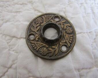 Vintage Door Knob Plate Stamped design