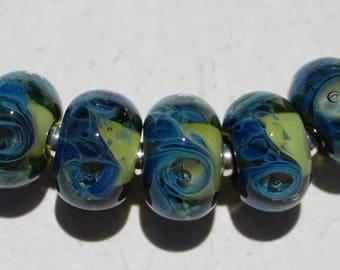 SPRING MEADOW Artisan boro beads by JRG