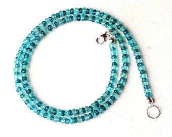 """Apatite Necklace, London Blue Topaz Necklace, Sterling Silver - """"Wave"""" by CircesHouse on Etsy"""