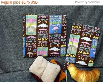 Sale 15% off Reusable Sandwich N Snack Bag Set,  May Showers Print