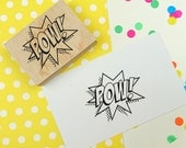 POW! Rubber Stamp - Comic Book Style Rubber stamp - bullet journal stamp - organizer stamp - planner stamp - pop art - superhero - explosion