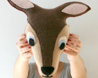 Deer Pillow - Woodland Nursery - Woodland Baby Shower - Deer Decor - Kids Room Decor - Woodland Animal - Nursery Decor -Cashmere Deer Pillow