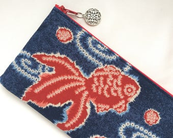 Goldfish Zipper Pouch/ Pencil Case