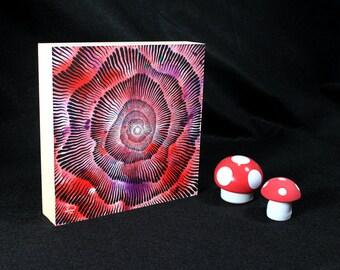 Abstract Vortex Mandala, Black Hole, Original Painting, Original Brush and Ink Drawing by Teddy Pancake, Visionary Art, Contemporary Art #14