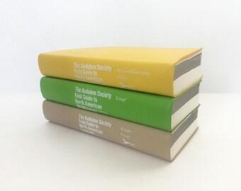 Set of Vintage Audubon Society Field Guides. Wildflowers. Seashells. Nature books.