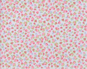 NEW Guernsey from Brenda Riddle for Moda Isola Floral in Sky   YES!! Continuous fabric cuts, combined shipping & refund overages