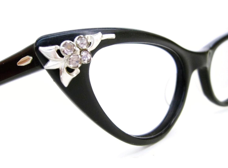 vintage cat eye glasses eyeglasses sunglasses atomic frame