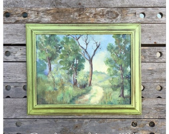 Oil Painting - Vintage Painting - Vintage Oil Painting - Landscape Oil Painting - Antique Oil Painting - Pastel Painting - Large Painting