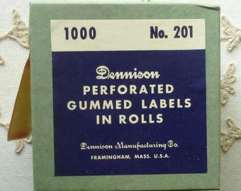 Vintage Roll of 1,000 Dennison Labels