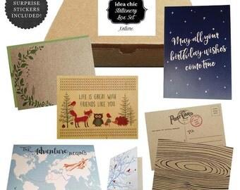 Nature Greeting Cards - Idea Chic Stationery Box Set