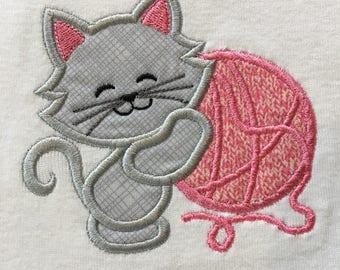 Cat, kitty baby onesie, infant bodysuit, toddler shirt, made to order