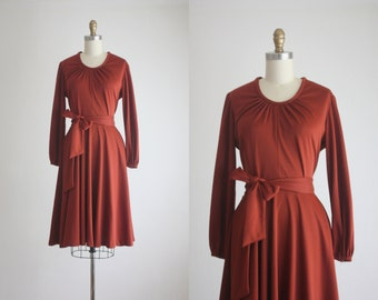 1970s spiced ginger dress