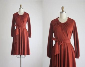 1970s spiced ginger dress