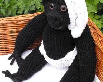 50% OFF SALE Instant digital file pdf download knitting pattern Cilla The Ugly Baby Gorilla Superfast toy pdf knitting pattern