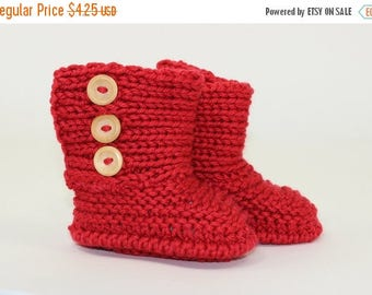 50% OFF SALE Instant Digital File PDF Download - Baby Chunky Unisex Booties knitting pattern