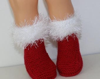 50% OFF SALE Madmonkeyknits - Toddler Simple Christmas Boots knitting pattern pdf download - Instant Digital File pdf knitting pattern