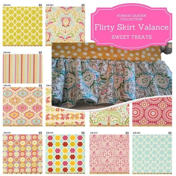 Custom Top Band Valance - Flirty Skirt Valance, Kumari Garden Collection, Nursery Curtain, Kids Bedroom, Trendy Tropical Valance, Moroccan